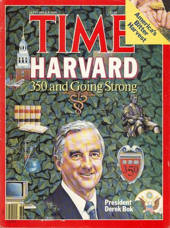 """Time:""""Harvard 350 and Going Strong"""" issue by  [POP UP NEW YORK]"""