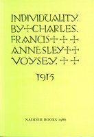 Individuality by  VOYSEY Charles Francis Annesley