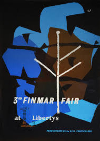 Poster for the 3rd Finmar Fair at Liberty's by  [FINMAR] ZERO Hans Schleger,