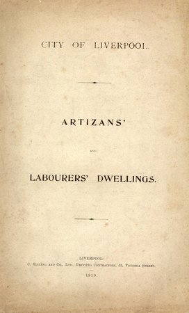 Artizans' and Labourers' Dwellings by  (CITY OF LIVERPOOL)