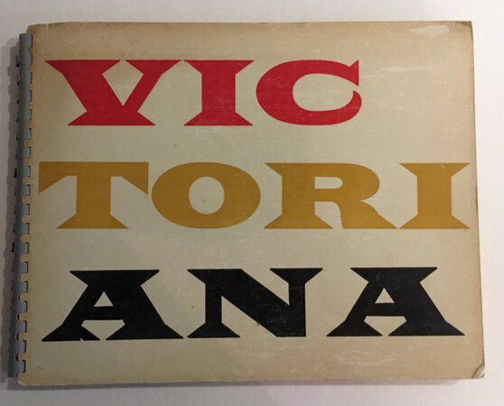 Victoriana. by Private press book ROBNSON Roger and PRIDDLE, Robert.