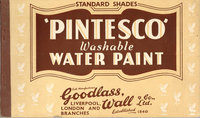 Pintesco Washable Water Paint by Trade Catalogue (GOODLASS, WALL & CO, LTD)