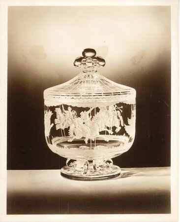 Exhibition of Steuben Glass Park Lane House by PRESS PHOTOGRAPHS, INFORMATION and CATALOGUE WITH MANUSCRIPT NOTES [STEUBEN GLASS]