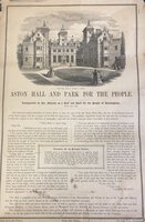 Aston Hall and Park for the People by [BIRMINGHAM - ASTON HALL]