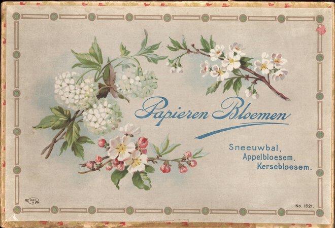 Papieren Bleomen. by {PAPER FLOWERS} W & S BAVARIA