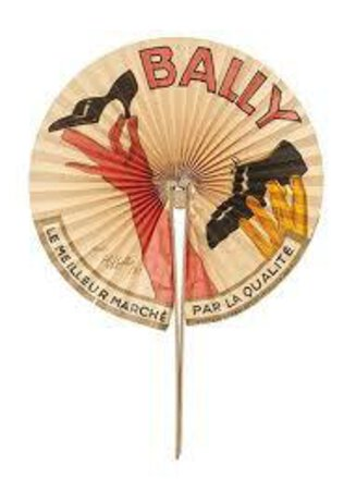 Bally: by [BALLY SHOES] ADVERTISING FAN