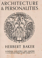 Architecture and Personalities by BAKER, Herbert