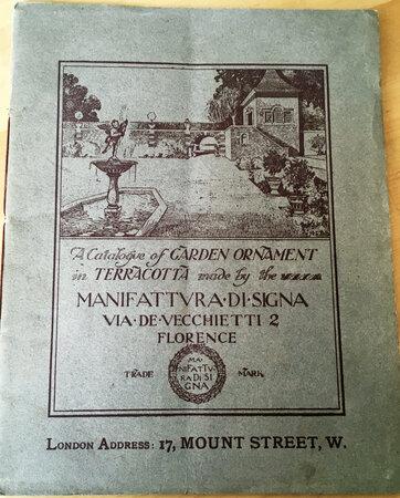 A Cataogue of Garden Ornament in Terra-Cotta by MANIFATTURA DI SIGNA