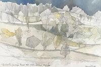 The Brunton Landscape towards Wall Northumberland by EVETTS, Leonard [1909 -1997] ARCA