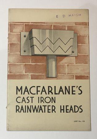MacFarlane's Cast Iron Rainwater Heads by MACFARLANE, Walter Ltd