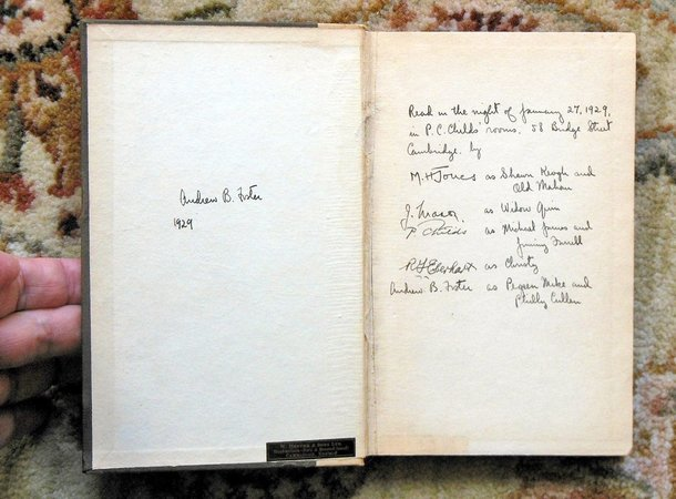 PLAY SIGNED by JAMES MASON while a STUDENT at CAMBRIDGE + Other Signatures 1929 by James Mason