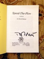 1989 DAVID MAMET - SIGNED - SPEED THE PLOW by David Mamet