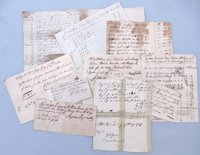 1737-1796 HANDWRITTEN EPHEMERA LEDGER DOCS - COLONIAL PENNSYLVANIA AMERICANA