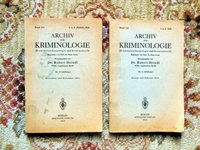 2 GERMAN CRIMINOLOGY BOOKLETS - ARCHIV FÜR KRIMINOLOGIE - Illustrated 1943-1944 by Robert Heindl