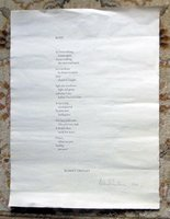 KORE - LARGE POETRY BROADSIDE - SIGNED LIMITED 1 OF 26 RARE 1975 by Robert Creeley