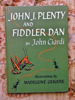 JOHN CIARDI - SIGNED & INSCRIBED - POETRY PICTURE BOOK - FIDDLER DAN First Edition 1963 by John Ciardi