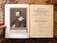 1793 GALILEO Two Volume Set RARE & IMPORTANT ITALIAN SCIENTIFIC BIOGRAPHY w/ PLATES by Galileo Galilei
