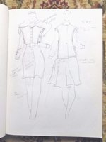 1982 HIGH-END FASHION DESIGNER'S SKETCHBOOK - GIBSON PALERMO of SAN FRANCISCO