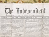 "1862 CIVIL WAR NEWSPAPER ""THE INDEPENDENT"" BATTLE REPORTS Edited by HENRY WARD BEECHER by Henry Ward Beecher"