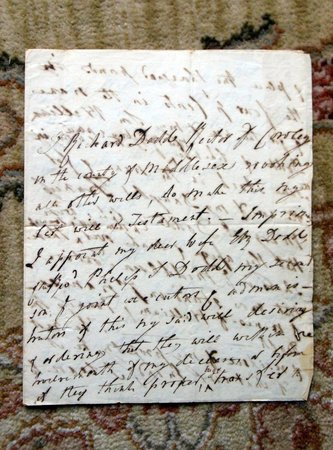 1798 HANDWRITTEN WILL of RICHARD DODD, RECTOR of COWLEY, MIDDLESEX COUNTY by Richard Dodd