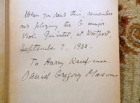 TWO BOOKS by COMPOSER DANIEL GREGORY MASON - SIGNED & INSCRIBED Association Copies by Daniel Gregory MASON