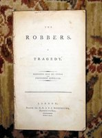 1792 FREDERICH SCHILLER - THE ROBBERS (DIE RÄUBER) - FIRST ENGLISH EDITION Rare