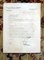 1948 EDWARD F. HUTTON (E.F. HUTTON) Typed Letter SIGNED to MELLON FAMILY MEMBER by E. F. HUTTON