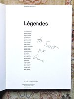 MODERN LEGENDS in ART, MUSIC & LITERATURE - SIGNED by LAURIE ANDERSON - FRENCH EXHIBITION CATALOGUE by Laurie, Anderson, Sol LeWitt, et al.