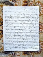 1849 LETTER by EDWARD P. BARNUM - MASON GRAND MASTER, SON OF AMERICAN REVOLUTION by Edward P. Barnum