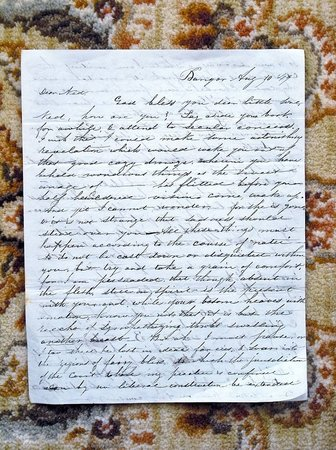 1849 LETTER by EDWARD P. BARNUM - MASON GRAND MASTER, SON OF AMERICAN REVOLUTION by Edward P. Barnum