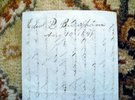 Another image of 1849 LETTER by EDWARD P. BARNUM - MASON GRAND MASTER, SON OF AMERICAN REVOLUTION by Edward P. Barnum