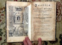 1833 POETICA - POEMS on MORALS, RELIGION & DEATH - German Book