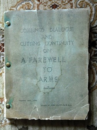 1958 FAREWELL TO ARMS - ORIGINAL DIALOGUE & CUTTING CONTINUITY - 18 REEL MOVIOLA SCRIPT / SCREENPLAY - Selznick Studios by (Ernest Hemingway)