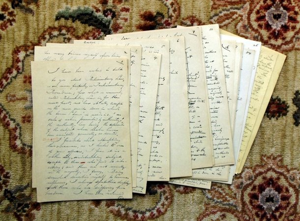 1917 HENRY DINGLEY COOLIDGE - 35 HANDWRITTEN PAGES - PARLIAMENTARY LAW LECTURE by Henry Dingley Coolidge