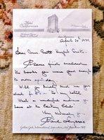 1939 Letter by PAUL LEYSSAC - DANISH ACTOR and Hans Christian Andersen Translator by PAUL LEYSSAC