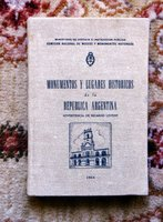 1944 ARGENTINA - MONUMENTS & HISTORIC SITES with PHOTOS & MAP