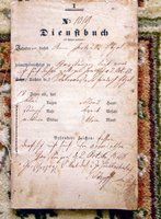 1848 Dienstbuch - Eighteen Year Old GERMAN SERVANT GIRL'S I.D. STATUS & DUTIES DOCUMENT - SERVICE IDENTIFICATION BOOK
