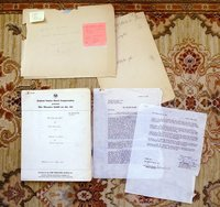 STEINBECK OF MICE AND MEN ORIGINAL RADIO SCRIPT ADAPTATION w/ SECRETARIALLY SIGNED LETTER 1949 by Robert Anderson, John Steinbeck