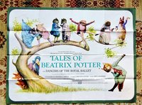 1971 TALES OF BEATRIX POTTER LARGE COLOR MOVIE POSTER with DANCERS of the ROYAL BALLET by BEATRIX POTTER