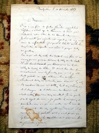 1867 JULES-EMILE PLANCHON HANDWRITTEN LETTER to DR. V.A. SIGNORET, plus two of J.-E. Planchon's ORIGINAL WORKS on the FRENCH PHYLLOXERA VINEYARD PLAGUE, plus a SIGNED WORK by J.-E. Planchon's brother, GUSTAVE PLANCHON by JULES-EMILE PLANCHON, Gustave Planchon