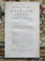 1756 WILLIAM DODD The NATURE & NECESSITY of FASTING - GOD LOVES THOSE who FAST by William Dodd
