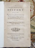1751 ROYAL SUCCESSION : REGENCIES & PRINCES of ENGLAND, GREAT-BRITAIN and WALES by Anonymous