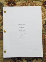 1981 Rare EARLY DRAFT SCREENPLAY / FILM SCRIPT of STEPHEN KING'S DEAD ZONE by Jeffery Boam, Stephen King