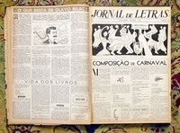 "1950 TWELVE Bound Issues RARE BRAZILIAN LITERARY NEWSPAPER ""JORNAL DE LETRAS"" #7-18"