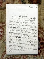1878 EDWARD MATTHEW WARD - HANDWRITTEN LETTER SIGNED to FRANK GASKELL by EDWARD MATTHEW WARD