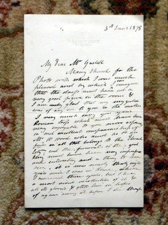 1878 EDWARD MATTHEW WARD - HANDWRITTEN LETTER SIGNED to FRANK GASKELL by EDWARD MATTHEW WARD