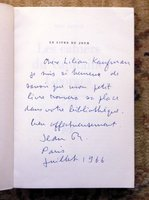 "JEAN RENOIR - SIGNED & INSCRIBED First Edition ""LES CAHIERS DU CAPITAINE GEORGES"" - SIGNED & INSCRIBED by the GREAT FILMMAKER JEAN RENOIR, the Son of Pierre-Auguste Renoir by JEAN RENOIR"