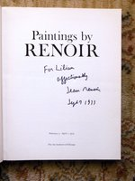 PAINTINGS BY RENOIR Exhibition Catalog SIGNED & INSCRIBED by His SON, JEAN RENOIR, the GREAT FRENCH FILM DIRECTOR by RENOIR