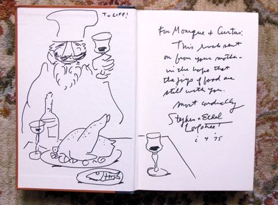 JOYS OF JEWISH COOKING by STEPHEN & ETHEL LONGSTREET SIGNED and INSCRIBED with ORIGINAL DRAWING by Stephen and Ethel Longstreet
