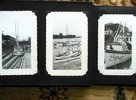 Another image of 1950s FAMILY PHOTO ALBUM w/ 50 SNAPSHOTS in BOATS on BEACH with BIG FISH